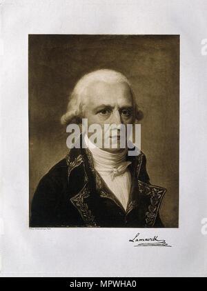 Jean-Baptiste Pierre Antoine de Monet, Chevalier de Lamarck (1744-1829), 1801. - Stock Photo