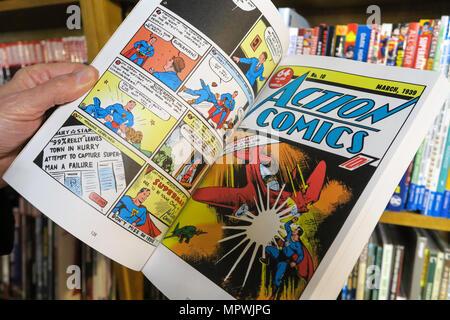 Superman Comic Books, NYC, USA - Stock Photo