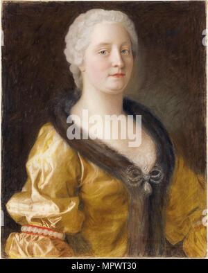 Portrait of Empress Maria Theresia of Austria (1717-1780), 1743. - Stock Photo