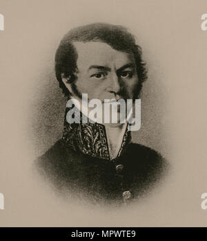 Portrait of Mikhail Andreyevich Dostoevsky (1789-1839), Dostoevsky's Father, 1820s. - Stock Photo