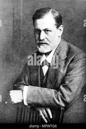 Portrait of Sigmund Freud, 1909. - Stock Photo