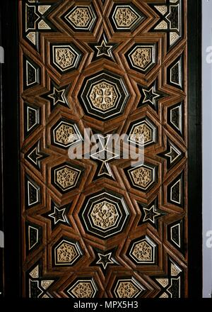 Door with geometric insets, late 13th century- early 14th century. Artist: Unknown. - Stock Photo