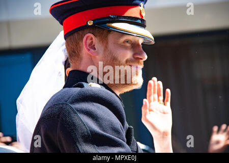 Royal wedding of Prince Harry and Meghan Markle May 2018 - Stock Photo