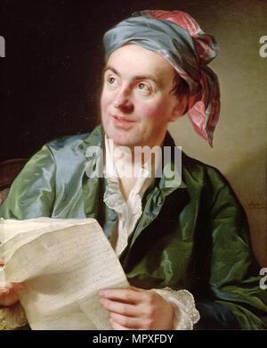 Portrait of the writer Jean-François Marmontel (1723-1799), 1767. - Stock Photo
