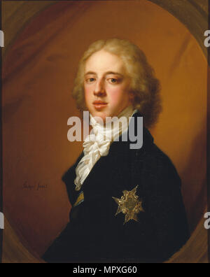 Portrait of Gustav IV Adolf of Sweden (1778-1837). - Stock Photo