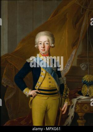 Portrait of Gustav IV Adolf of Sweden (1778-1837), 1793. - Stock Photo