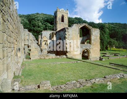 Mount Grace Priory, North Yorkshire, c2000-c2017. Artist: Mike Kipling. - Stock Photo