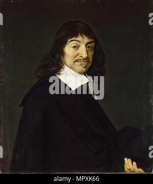 Portrait of the philosopher René Descartes (1596-1650), c. 1650-1660. - Stock Photo