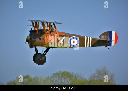 Sopwith camel world war 1 British biplane fighter - Stock Photo