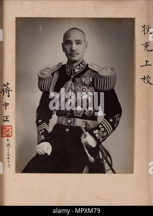 Chiang Kai-shek (1887-1975), 1942-1943. - Stock Photo