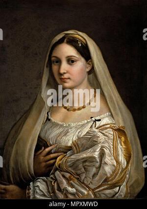 La donna velata (The woman with the veil), 1516. - Stock Photo