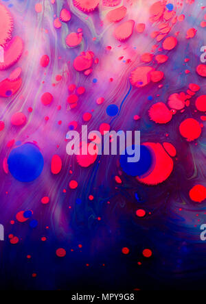 Close-up of abstract marbling painting - Stock Photo