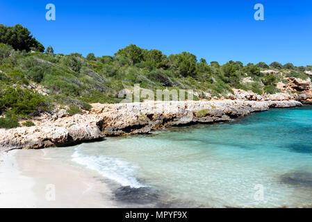Cala Sa Nau - beautiful bay and beach on Mallorca, Spain - Europe - Stock Photo