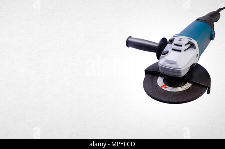 Electric grinder mechanic or angle grinder on background - Stock Photo