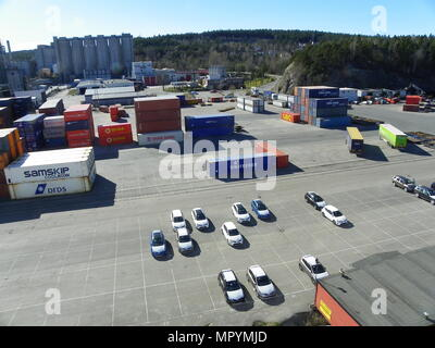 Port of Brevik, Norway - Stock Photo