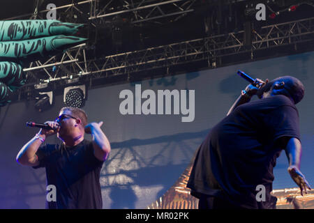 Run the Jewels performs at music festival - Stock Photo