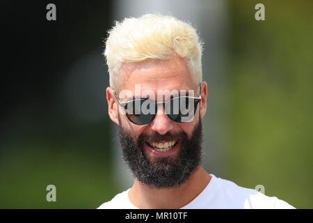 Paris, Frankreich. 24th May, 2018. Paris, France 21st May - 10th June 2018: French Open - 2018 Benoit Paire (FRA), action/photo/portrait/face/laughsd/smiling/in a good mood/grinning/grinning/| usage worldwide Credit: dpa/Alamy Live News - Stock Photo