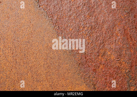 rusted corroded iron sheet background texture - Stock Photo