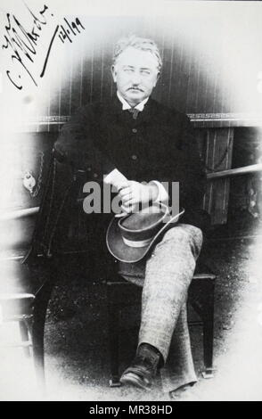 Photographic portrait of Cecil Rhodes (1853-1902) a British businessman, mining magnate, politician and former Prime Minister of the Cape Colony. Dated 19th century - Stock Photo