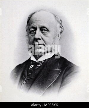Photographic portrait of William Overend Priestley (1829-1900) a British physician and Conservative Party Politician. Dated 19th century - Stock Photo