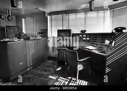 Photograph of a radio telescope control room  A radio