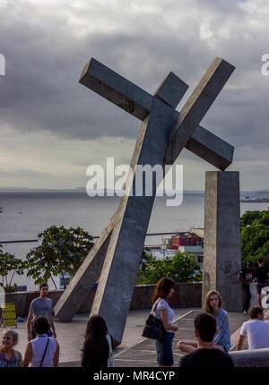 Salvador Bahia,Brazil,fallen cross - Stock Photo