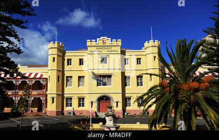 The old building of the Somerset hospiatl in Cape Town, South Africa. - Stock Photo