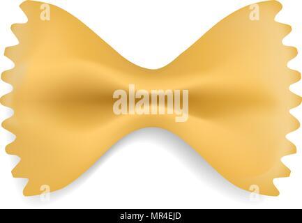 Farfalle pasta mockup, realistic style - Stock Photo