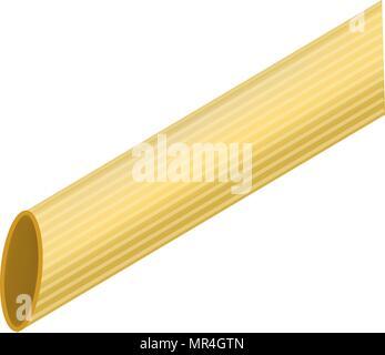 Pasta rigatoni mockup, realistic style - Stock Photo