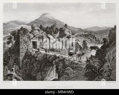 1875 Engraving, by Victor Guerin (1821 - 1891), depicting a scene in Palestine - Stock Photo