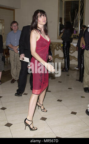 Lucy Lawless arriving at The 27th Saturn Awards at the Park Hyatt Hotel in Los Angeles  June 13, 2001 - © TsuniLawlessLucy14.JPGLawlessLucy14 Red Carpet Event, Vertical, USA, Film Industry, Celebrities,  Photography, Bestof, Arts Culture and Entertainment, Topix Celebrities fashion /  Vertical, Best of, Event in Hollywood Life - California,  Red Carpet and backstage, USA, Film Industry, Celebrities,  movie celebrities, TV celebrities, Music celebrities, Photography, Bestof, Arts Culture and Entertainment,  Topix, vertical, one person,, from the year , 2001, inquiry tsuni@Gamma-USA.com Fashion  - Stock Photo