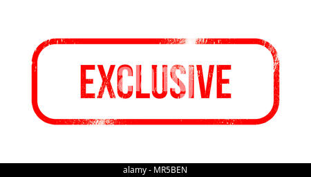 exclusive - red grunge rubber, stamp - Stock Photo