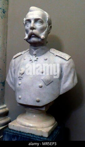 Bust of Tsar Alexander II (1818 – 1881) Emperor of Russia from 1855 until his assassination on 13 March 1881. - Stock Photo