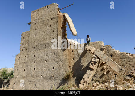 ETHIOPIA, Tigray, Zalembessa, border town to Eritrea, war damages from the ongoing conflict between Ethiopia and Eritrea - Stock Photo