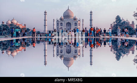 Taj Mahal in Agra - Stock Photo
