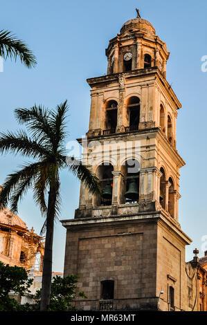 Belfry, Cathedral Nuestra Senora de la Asuncion - Veracruz, Mexico - Stock Photo