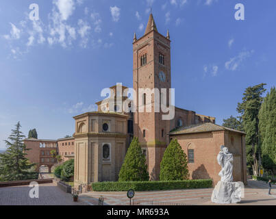 Abbey of Monte Oliveto Maggiore, Asciano, Tuscany, Italy - Stock Photo