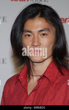 Shin Koyamada (Tom Cruise's co-star in The Last Samurai) arriving at the ' TEEN VOGUE 1ST ANNUAL YOUNG HOLLYWOOD ISSUE ' in  a private residence in Beverly Hills (Los Angeles). September 5, 2003.  KoyamadaShin110 Red Carpet Event, Vertical, USA, Film Industry, Celebrities,  Photography, Bestof, Arts Culture and Entertainment, Topix Celebrities fashion /  Vertical, Best of, Event in Hollywood Life - California,  Red Carpet and backstage, USA, Film Industry, Celebrities,  movie celebrities, TV celebrities, Music celebrities, Photography, Bestof, Arts Culture and Entertainment,  Topix, headshot,  - Stock Photo
