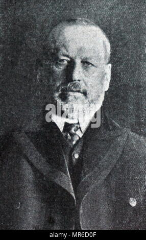 Mikhail Vladimirovich Rodzianko (1859 – 1924) Russian politician and statesman of Ukrainian origin. Chairman of the State Duma and one of the leaders of the February Revolution of 1917, during which headed the Provisional Committee of the State Duma. He was a key figure in the events that led to the abdication of Nicholas II of Russia - Stock Photo