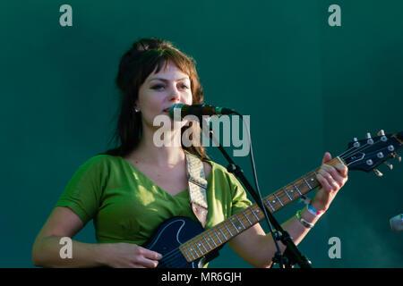 Angel Olsen singer performs in concert - Stock Photo