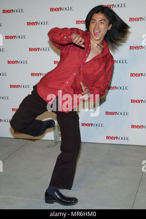 Shin Koyamada (Tom Cruise's co-star in The Last Samurai) arriving at the ' TEEN VOGUE 1ST ANNUAL YOUNG HOLLYWOOD ISSUE ' in  a private residence in Beverly Hills (Los Angeles). September 5, 2003.  KoyamadaShin106 Red Carpet Event, Vertical, USA, Film Industry, Celebrities,  Photography, Bestof, Arts Culture and Entertainment, Topix Celebrities fashion /  Vertical, Best of, Event in Hollywood Life - California,  Red Carpet and backstage, USA, Film Industry, Celebrities,  movie celebrities, TV celebrities, Music celebrities, Photography, Bestof, Arts Culture and Entertainment,  Topix, vertical,  - Stock Photo