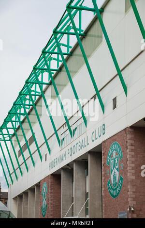 Hibernian Football Club stadium in Edinburgh Scotland. - Stock Photo