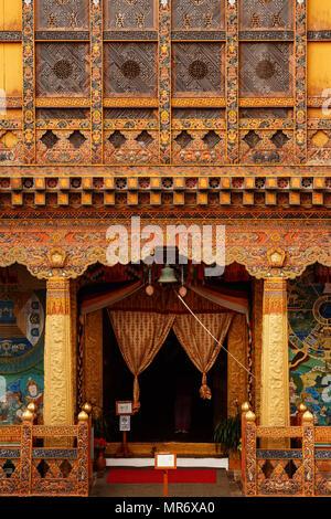 Punakha Dzong Inside - Stock Photo