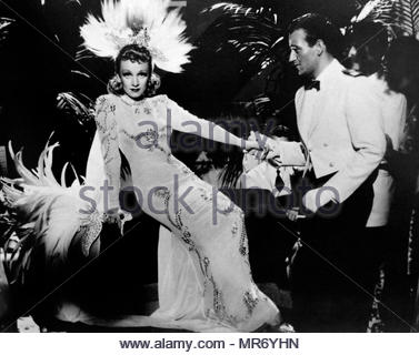 Seven Sinners (Cafe of the Seven Sinners) a 1940 American comedy drama romance film directed by Tay Garnett, starring Marlene Dietrich and John Wayne - Stock Photo