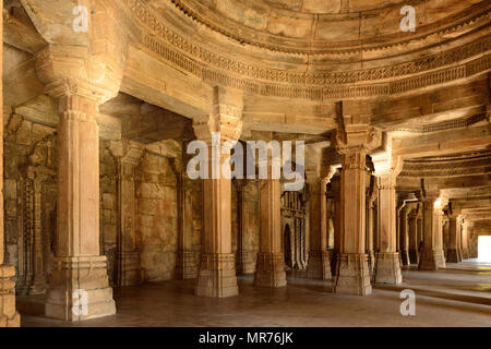 Champaner - Pavagadh Archaeological Park is a historical city in the state of Gujarat. Kevda Masjid mosque. (UNESCO).Inside the Sahar ki Masjid - Stock Photo