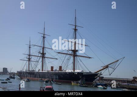 HMS Warrior in Portsmouth, Sussex, UK - Stock Photo