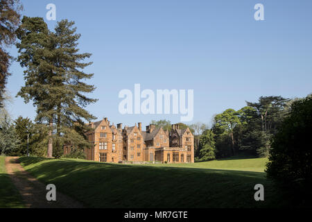 Rear view of Fairleigh Dickinson University, formerly Wroxton College at Wroxton, near Banbury, Oxfordshire - Stock Photo