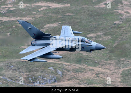 RAF Tornado GR4 flying through the Mack Loop - Stock Photo