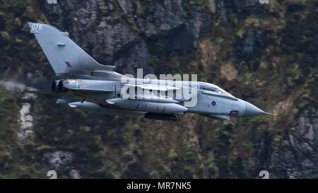 RAF Tornado GR4 flying through the Mack Loop - Stock Photo