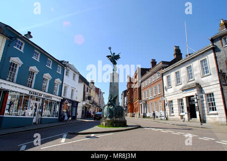 War memorial in Lewes High Street, East Sussex, UK - Stock Photo